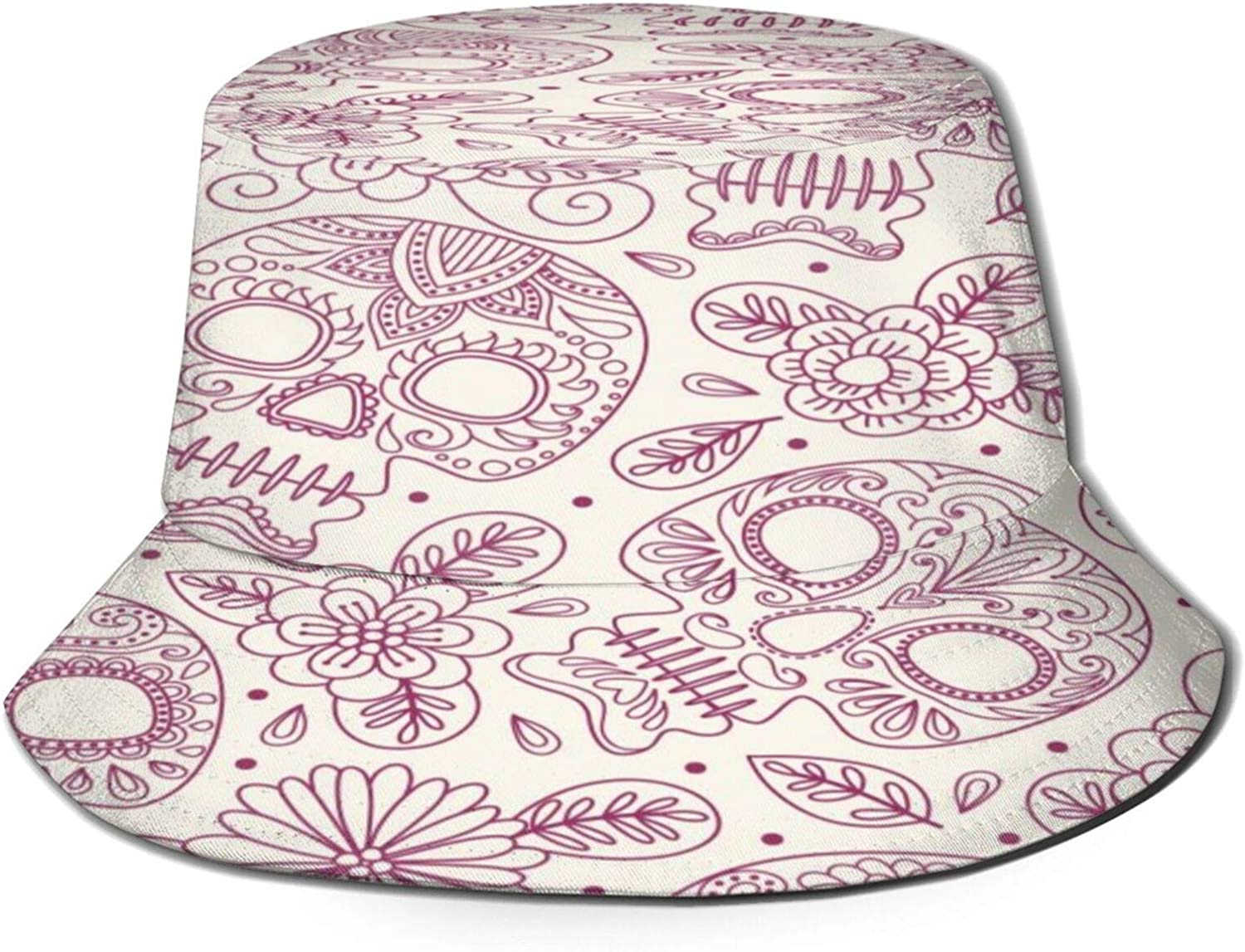 Mexican Skull and Flowers Bucket Hat 2021 new Packa Summer Max 46% OFF Unisex Sun