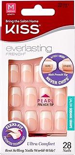 Kiss Everlasting French Nail Kit Medium Pearl Tip 28 Nails (2 Pack)