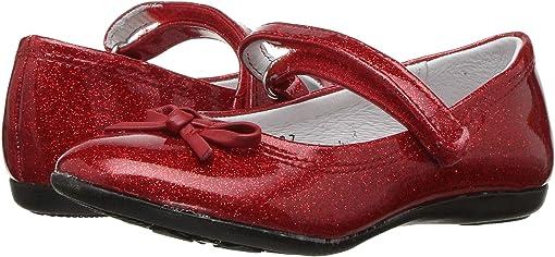 Red Glitter Patent