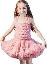 BUENOS NINOS Baby Girl's Fluffy Dance Tutu Skirt Soft Tulle Ballet Pettiskirt Dress Set for 1-10T