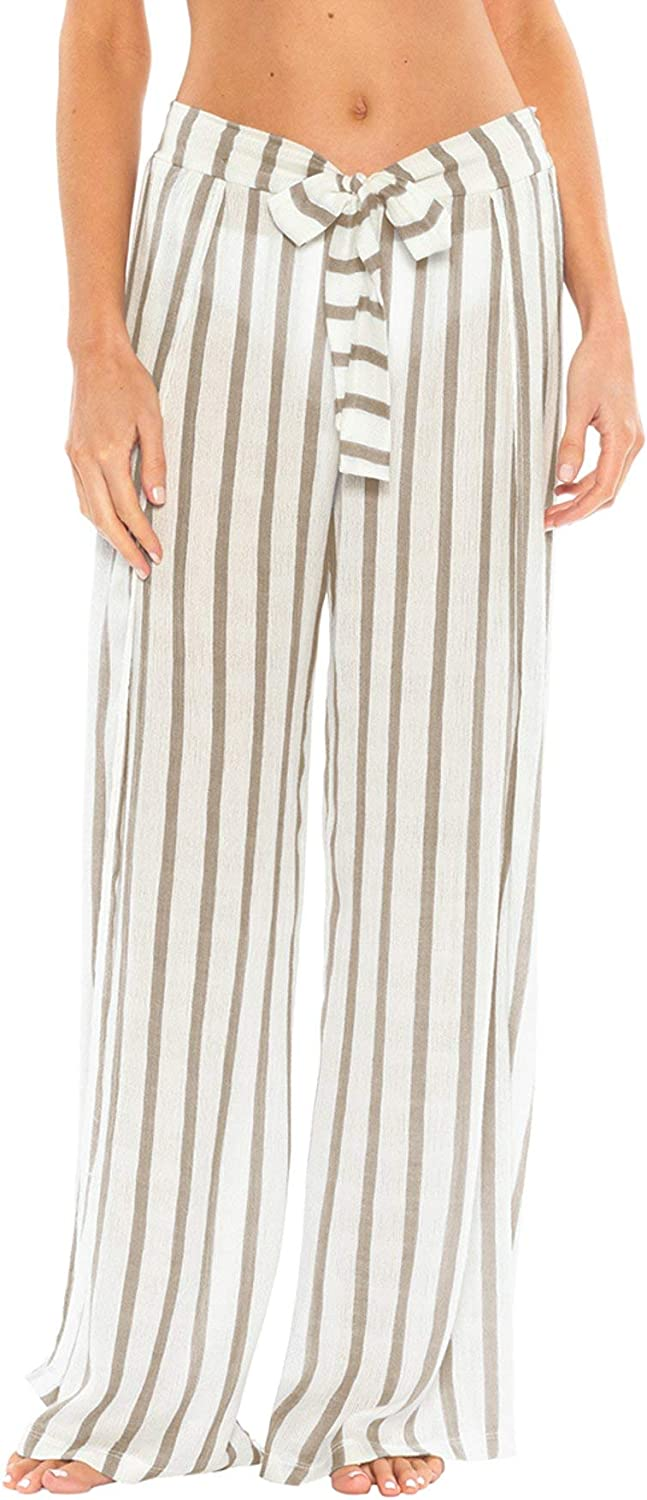 Becca by Rebecca Virtue Women's Serengeti TieFront Cover Pants Swim Cover Up