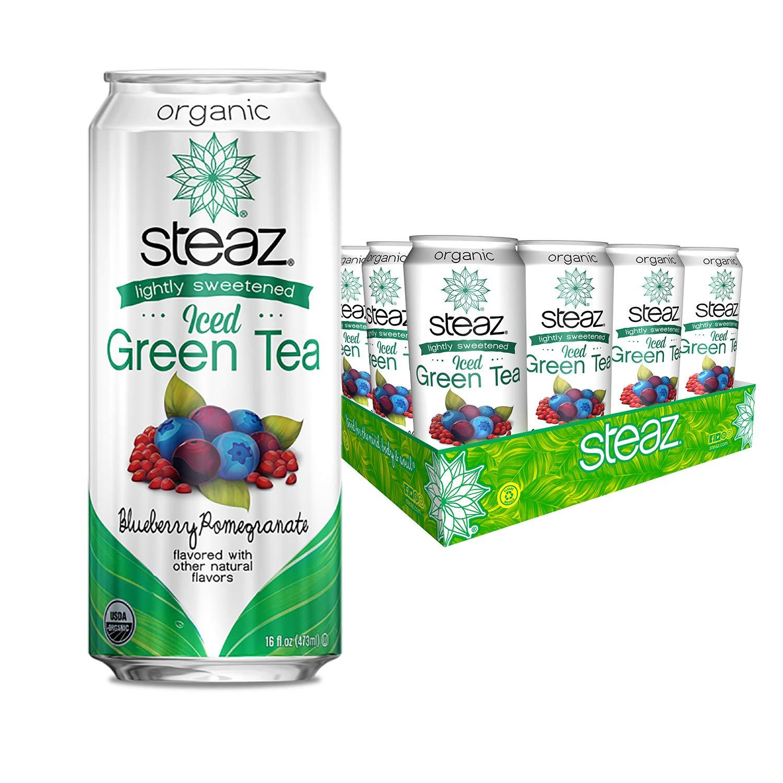 Steaz Organic Lightly Sweetened Iced Pomegr Blueberry online shopping Ranking TOP7 Green Tea