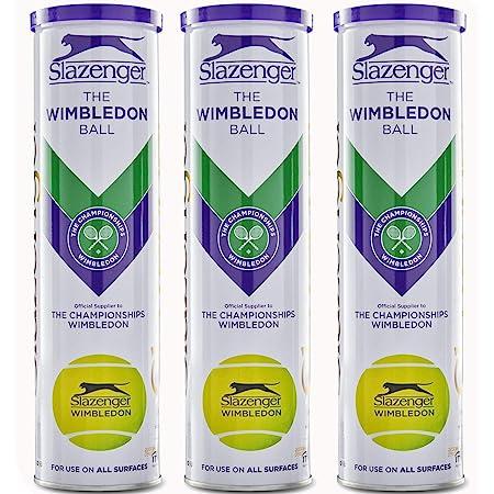 Slazenger WIMBLEDON Tennis Ball TIN 12 Balls (3 x 4)