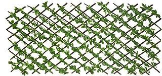 سياج خشبي بأوراق شجر خضراء صناعية للديكور الداخلي والخارجي، ديكور الحديقة - سياج