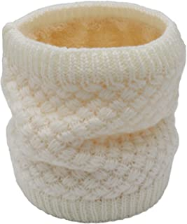 Aiphamy Winter Fleece Lined Knitted Neck Warmer Neck Gaiter Scarf for Women Mens