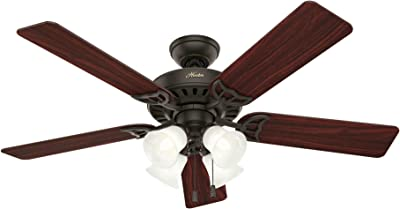 Hunter 53067 Traditional 52``Ceiling Fan from Studio Series collection Dark finish, New Bronze