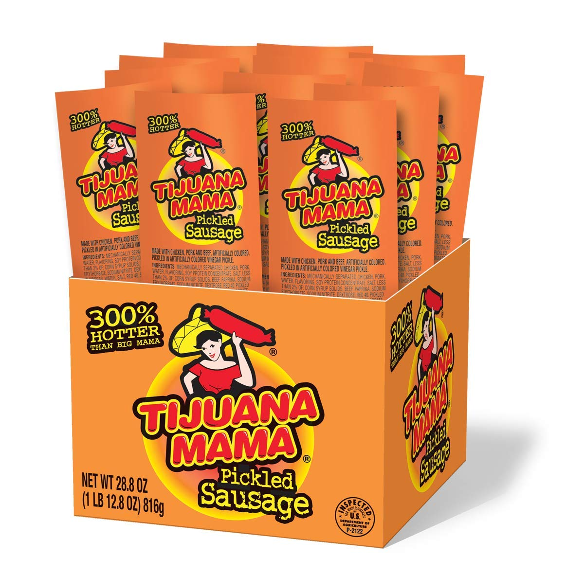 Penrose Tijuana Mama Pickled National uniform free shipping Sausages 2.4 San Jose Mall Count 12 Ounce
