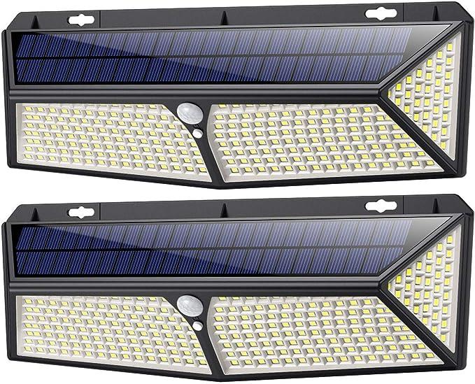 186 opinioni per Luce Solare Led Esterno 288LED con Ricarica USB,【2 Pezzi】iPosible Lampade Solari