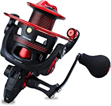 One Bass Fishing reels Light Weight Saltwater Spinning Reel - 39.5 LB Carbon Fiber Drag,12+1 BB Ultra Smooth All Aluminum Inshore Reel for Saltwater or Freshwater