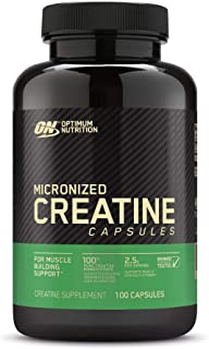 Optimum Nutrition Micronized Creatine Monohydrate Capsules, Keto Friendly, 2500mg, 100 Capsules