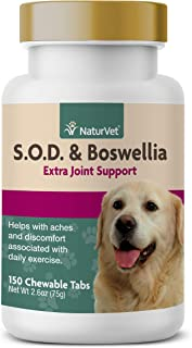 NaturVet – S.O.D. & Boswellia Extra Joint Support for Dogs – Supports Healthy Hip & Joint Function – Helps to Alleviate Ac...