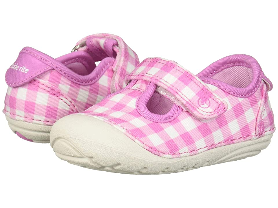 Stride Rite SM Hannah (Infant/Toddler) (Pink Gingham) Girls Shoes