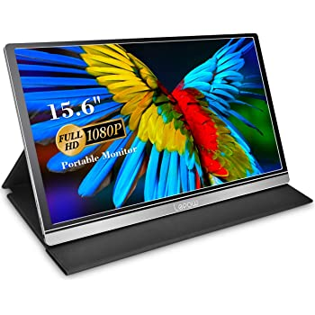 Portable Monitor - Lepow Z1-Gamut (2020) 15.6 Inch FHD 1080P High Color Gamut Computer Display USB C Eye Care Screen with HDMI Type-C Speakers for Laptop PC MAC Phone Xbox PS4 Include Smart Cover