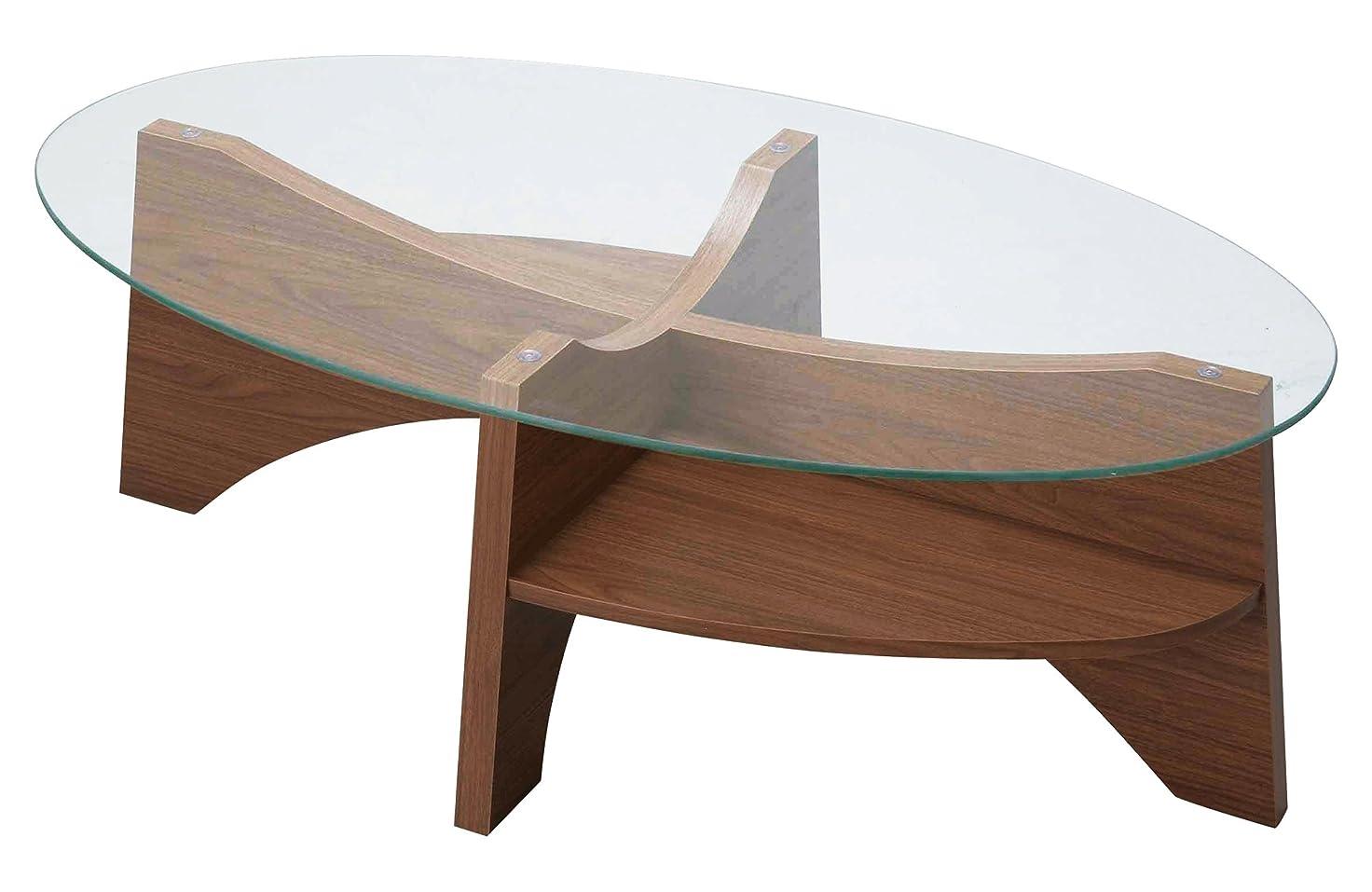 胸クアッガ保有者AZUMAYA オーバルテーブル LE-454WAL