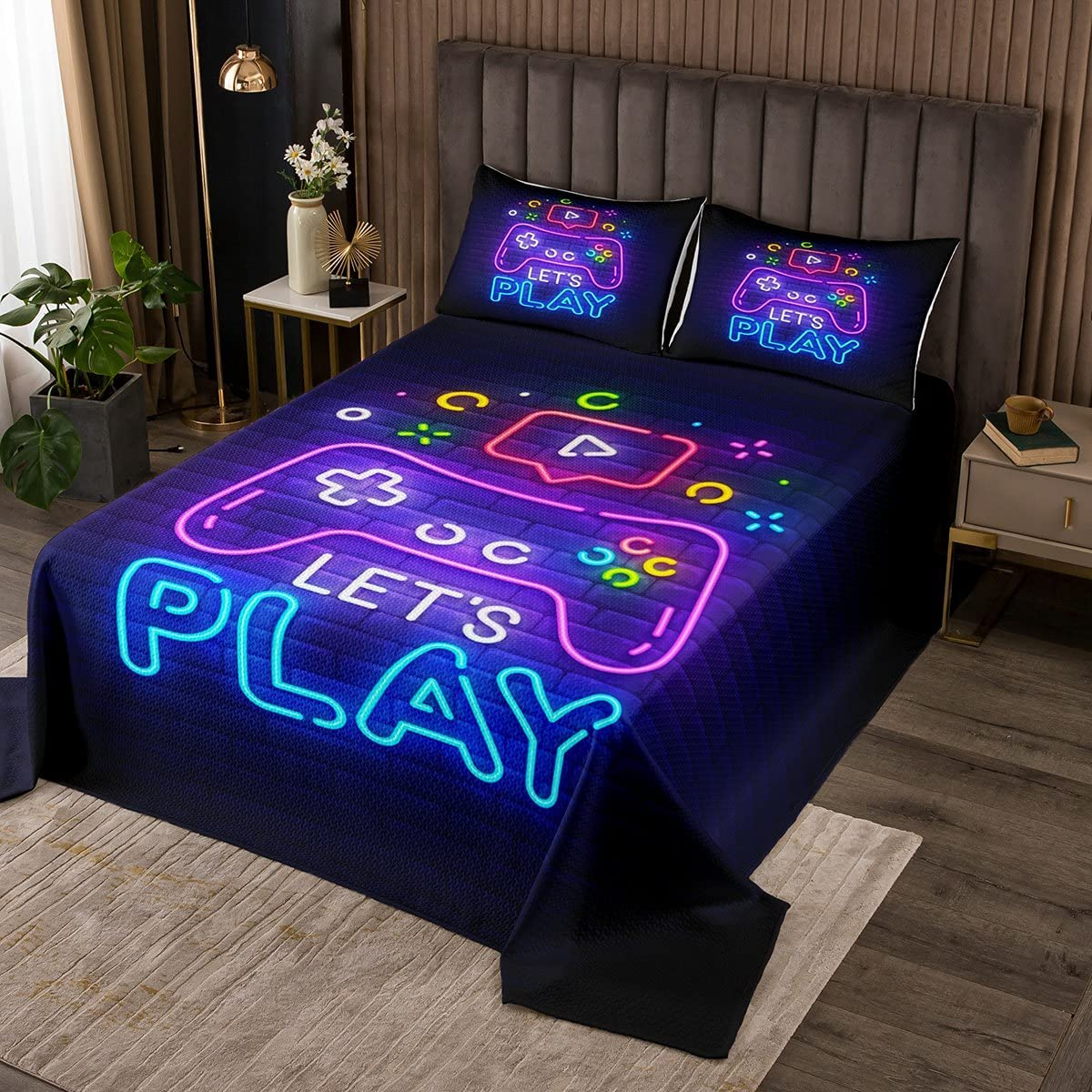 Erosebridal Gaming Gamer 2021 autumn and winter new Bedspread Queen Game El Paso Mall Bedding Set Video