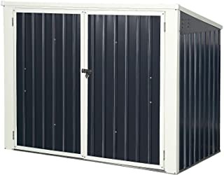 Goplus Outdoor Storage Shed 6' x 3', Multi-Purpose Galvanized Steel Garbage Cans Box with Easy Lift Hinges, Lockable Shed ...