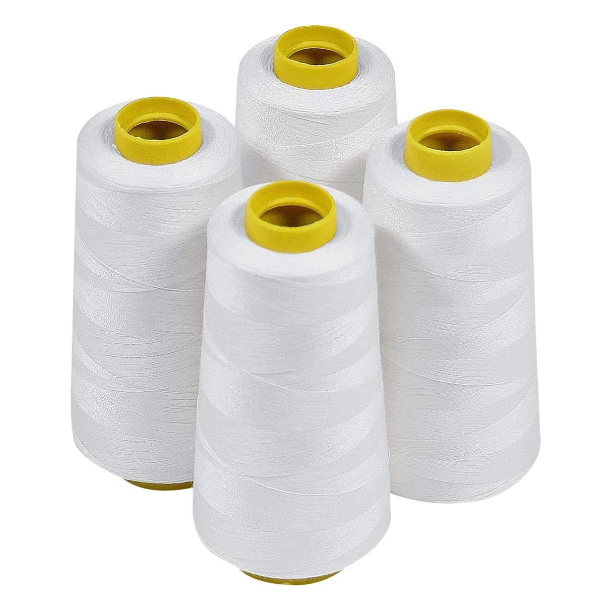 ThreadNanny 4_White_3k Polyester Threads Quilting