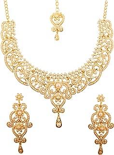 Indian Bollywood Royal Look Marvelous Designer Jewelry Necklace Set Embellished for Women.