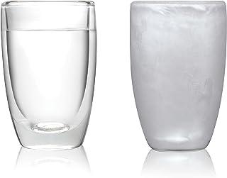 Amsterdam Glass Vaso de Doble Pared, Juego de 2 Piezas, 290