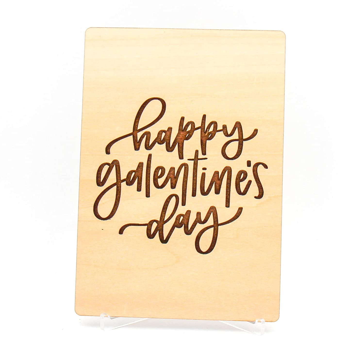 Happy 2021 model Galentine's Day Wooden Valentine's Friend Female For Austin Mall Card