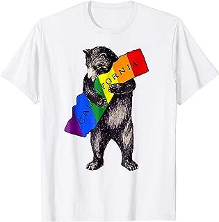 LGBTQ Gay Pride Cali Bear Bear I Love California T-Shirt