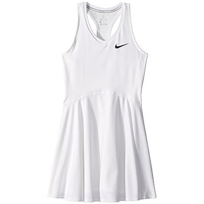 Nike Kids Court Pure Tennis Dress (Little Kids/Big Kids) (White/White) Girl