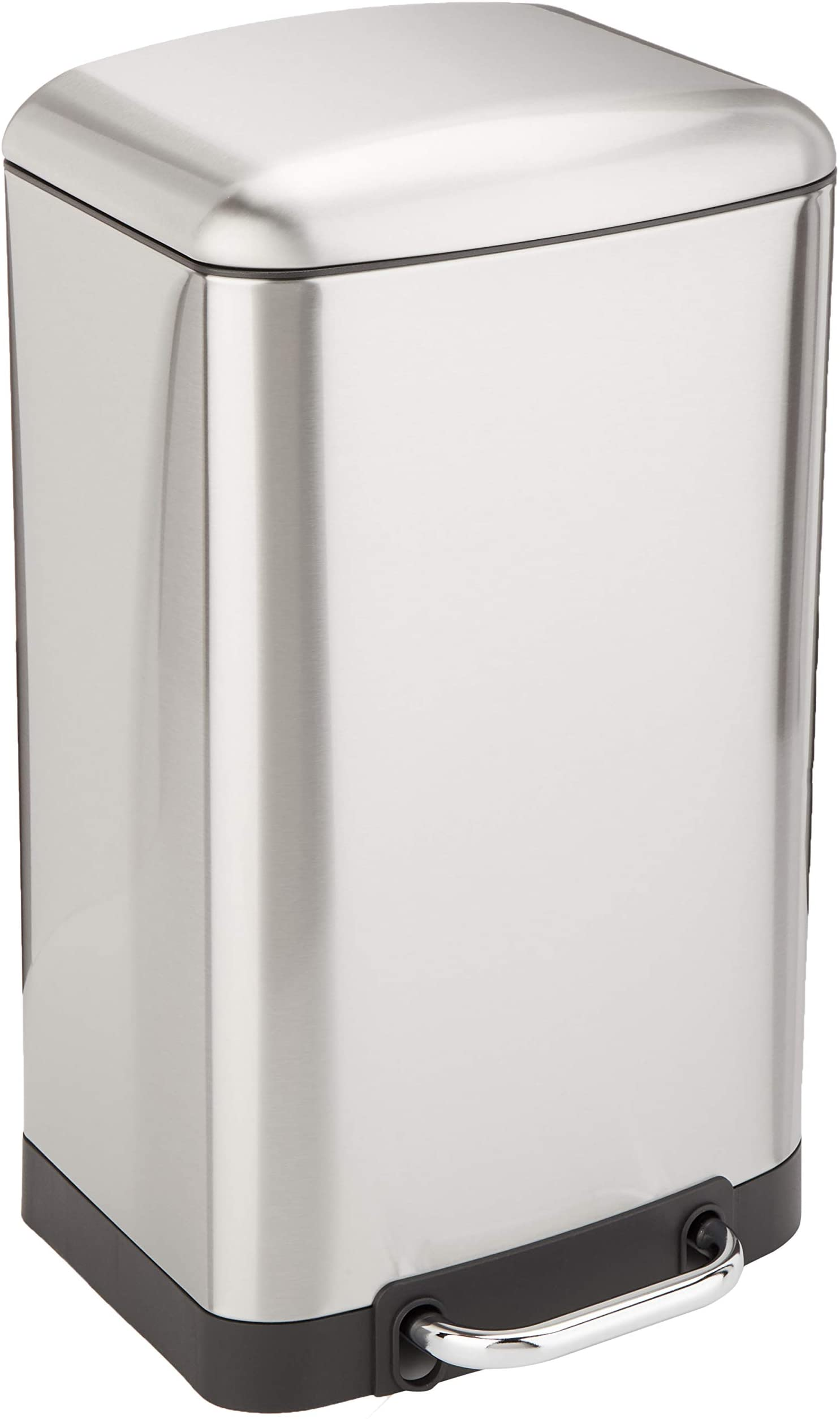 Amazon Basics 20 Liter / 5.3 Gallon Gallon Soft-Close Trash Can with Foot Pedal - Stainless Steel