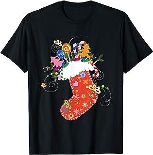Joyful Holiday Christmas Gifts Co., Calcetín de Navidad relleno Calcetines de Navidad Emoji Camiseta