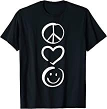 Peace Love and Happiness T-Shirt Peace Sign, Heart, Smile