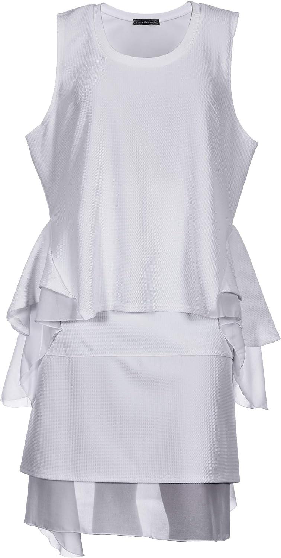 Lucy Diamonds Women's Plus Size 2 Piece Sleeveless Top & Skirt Outfit White 1X 2X 3X 4X 5X 6X