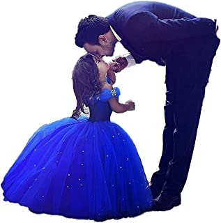 Girls Cinderella Princess Pageant Ball Gowns Kids Tulle Flower Girls Dresses