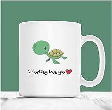 Turtle Mug, I Turtley Love You, Sea Turtle Coffee Mug, Valentines Coffee Mug, Gift For Turtle Lovers, Girlfriend Gift, Boy...