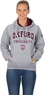 Oxford University - Sudadera con capucha para mujer de la universidad de Oxford y bandera del Reino Unido Union Jack.