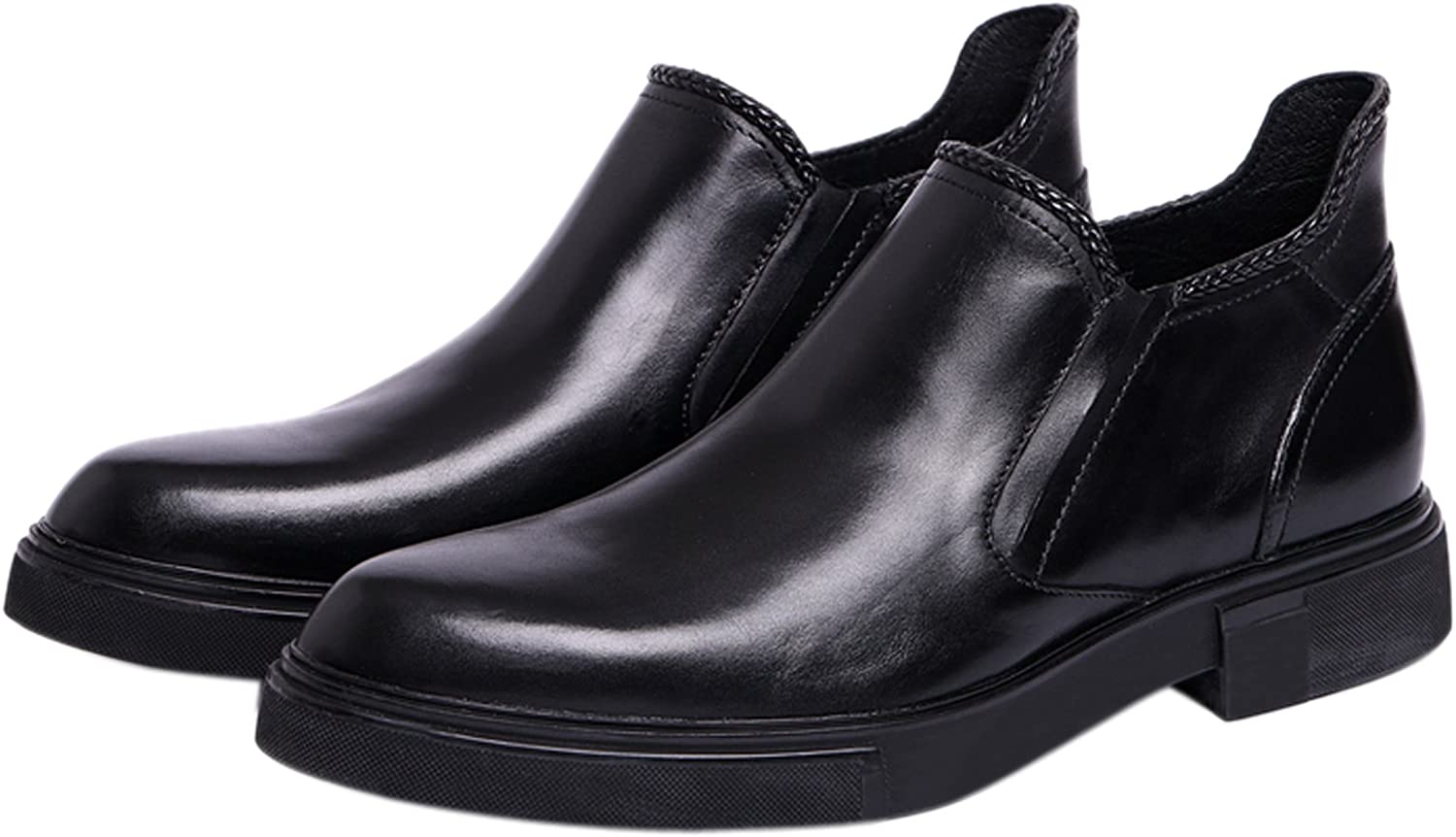 Santimon Mens Chelsea Boots Slip On Dress shoes Leather Ankle Boots Formal shoes