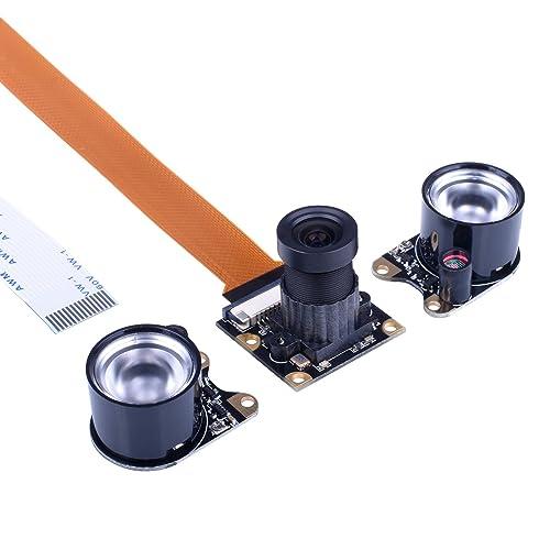 Kuman Camera Module Pour Raspberry Pi Zero W 3 Modèle B B + A + 2 1 5MP 1080p OV5647 Capteur Vidéo HD Webcam Caméra de Vision Nocturne SC15-1