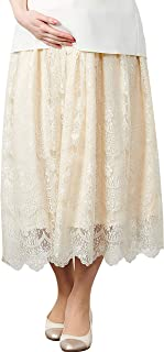Sweet Mommy Maternity and Post-Partum Elegant Lace Maxi Skirt