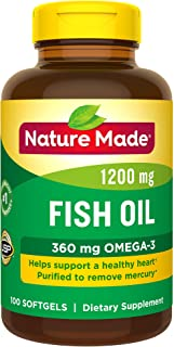 Nature Made Fish Oil 1200 mg w. Omega-3 360 mg Softgels 100 Count (Pack of 1)