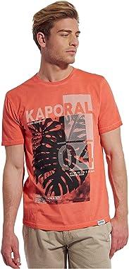 Kaporal - T-Shirt à Manches Courtes imprimé en 100% Coton, Coupe Droite - Teano - Homme