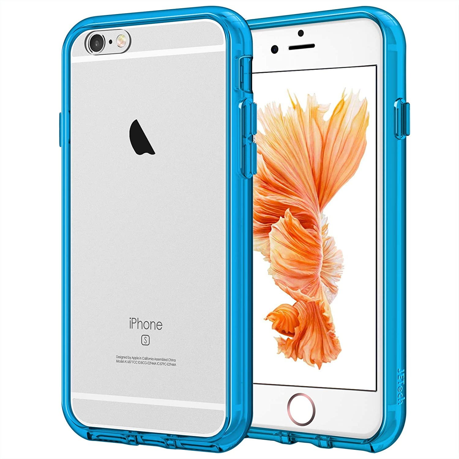 JETech Case for iPhone 6 and iPhone 6s, Shock-Absorption Bumper Cover, Anti-Scratch Clear Back (Blue)