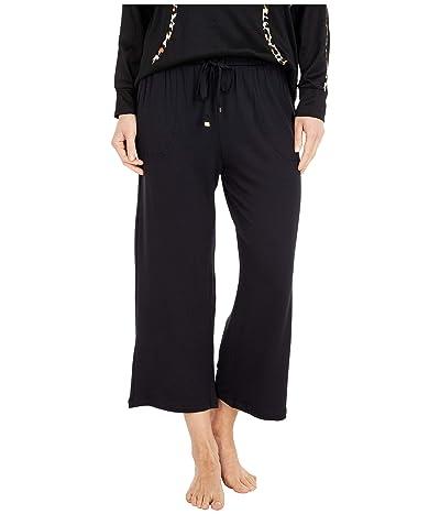 Kate Spade New York French Terry Cropped Wide Leg Pants (Black) Women