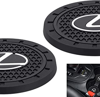 AOOOOP Car Interior Accessories for Lexus Cup Holder Insert Coaster - Silicone Anti Slip Cup Mat for Lexus RX350 UX200 NX300 IS300 ES350 GS350 GX460 LX570 RC300 LC500 (Set of 2, 2.75