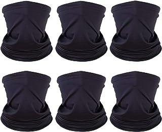 6 Pack Unisex Neck Gaiter Warmer for Men Women, Winter Breathable Gators Bandana Mask, Reusable Face Cover Balaclava