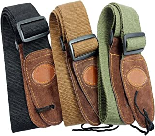 Muxico Cool Design Cotton Leather Guitar Strap,green