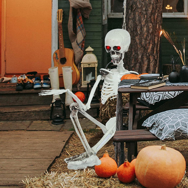 TUTAVIAW Halloween Cheap bargain High quality Skeletons Decoration 35.5