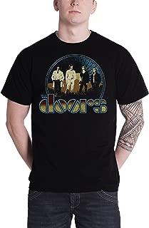 T Shirt Vintage Field Band Logo Jim Morrison Official Mens Black