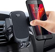 DesertWest Universal Car Vent Phone Mount [One Touch Auto Grip] Upgraded Cell Phone Holder for Car Ultra Stable Easy Vent Mount for iPhone 11 Pro X SE 2020 Samsung LG Moto Google All 4-7 Inch Phones