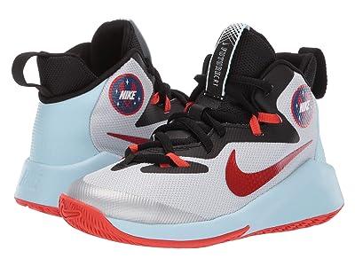 Nike Kids Future Court SD (Big Kid) (Pure Platinum/Team Orange/Black) Boys Shoes