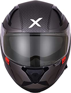 Axor Apex Sharkco D/V Full Face Helmet (Dull Metal Grey, M)