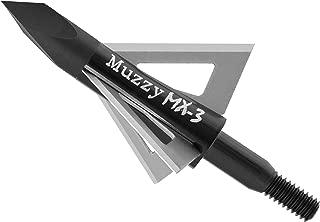 Muzzy Bowhunting Broadheads 3 Blades Trocar Tip, 75, 100 or 125 Grain, 3 Pack
