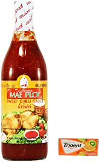 Mae Ploy Sweet Chili Sauce Glass Bottle 25Oz Pack Of 1 Plus a Free Gift Trident Gum